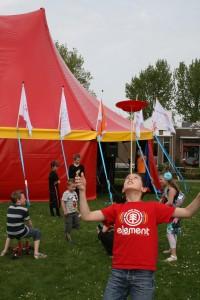 Circus op school met circustent
